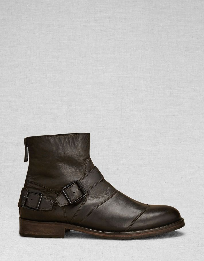 e5204dfd55b Trialmaster Short Boot - Black Leather Shoes | Style 50s | Boots ...