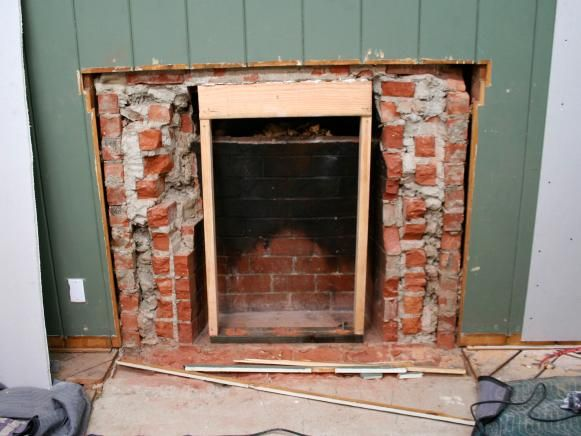 Removing A Brick Fireplace Brick Fireplace Makeover Fireplace