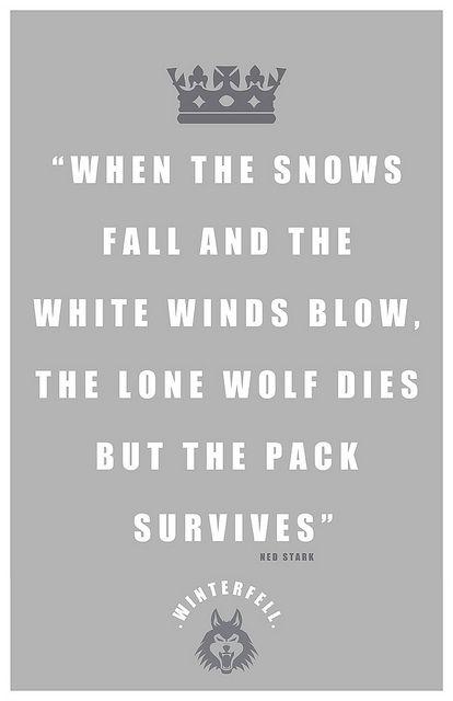 Stark Quote Game Of Thrones Got Zitate Und Zitate