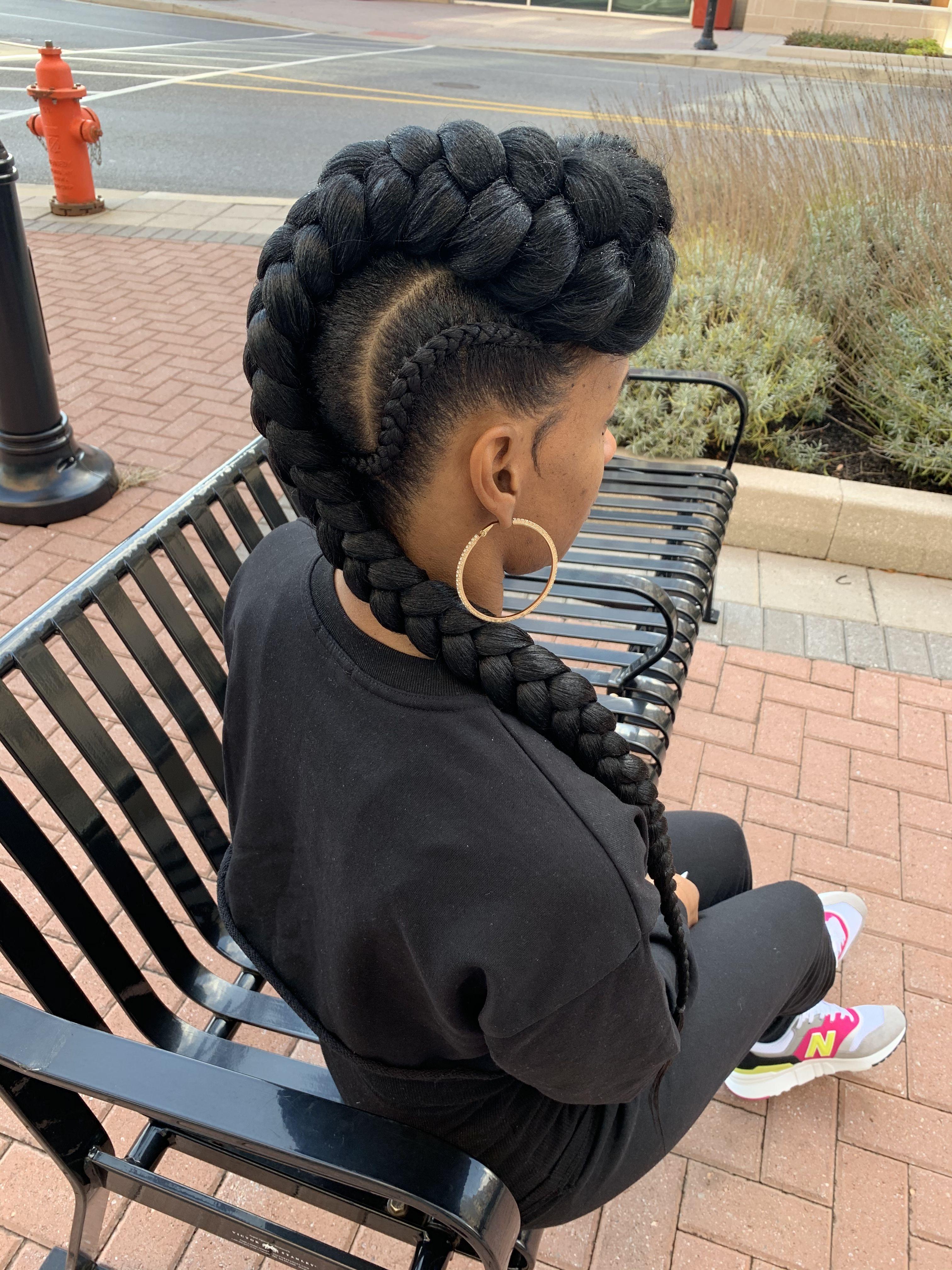 1 3 Jumbo Cornrows Natural Hair Salons Goddess Braids Natural Hair Styles