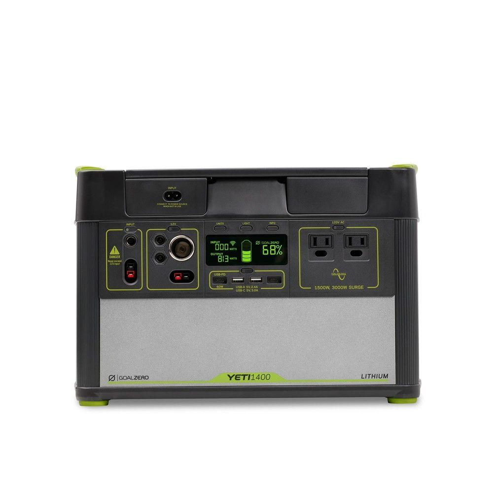 Yeti 1400 Lithium Portable Power Station Wifi App Enabled Solar Generator Goal Zero Goal Zero Best Solar Panels Solar Power Diy Goal Zero