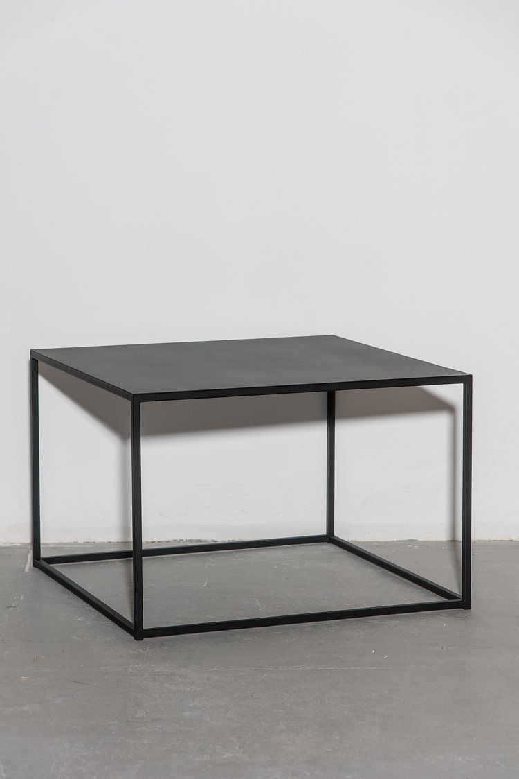 Frisco 24 Quot Coffee Table Black Metal Minimal And Cube