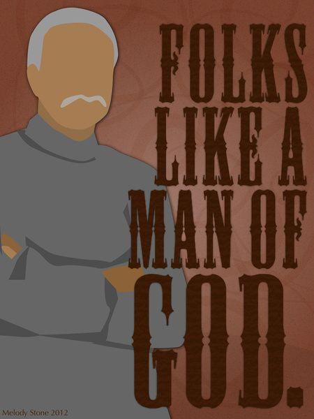 Shepherd Book: Folks Like a Man of God.