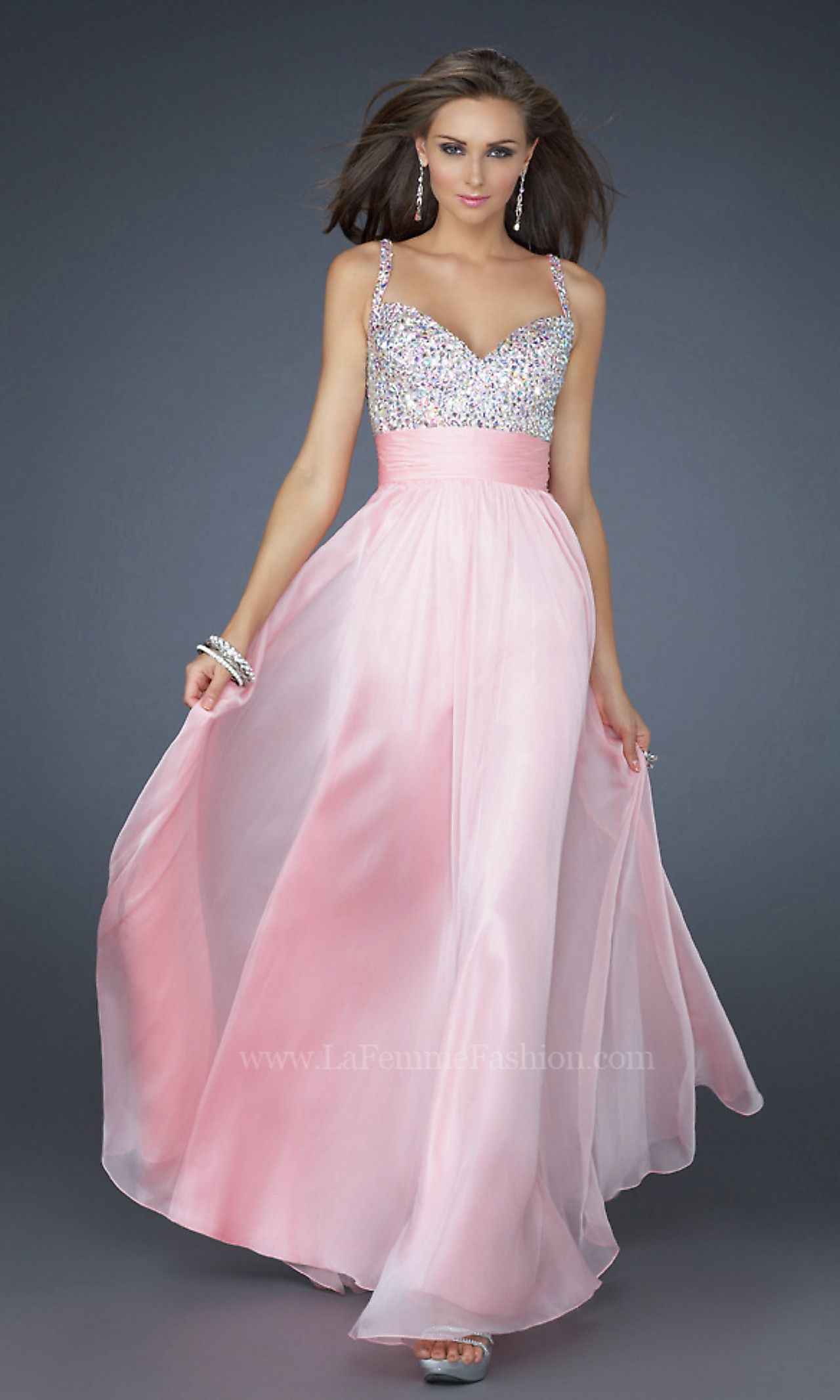 La Femme Beaded Long Formal Dress | Pinterest | Lindo, Vestiditos y ...