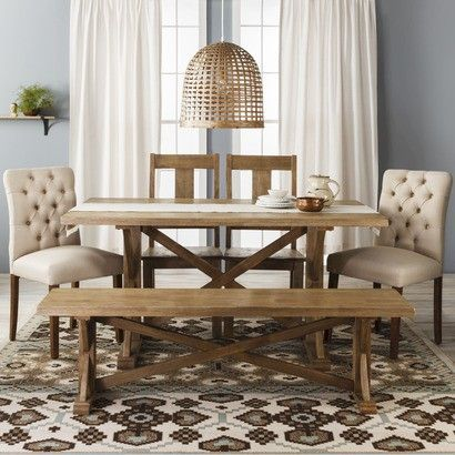 Farm Table Collection Woodmultiple Colors  Threshold™  House Classy Farmhouse Dining Room Furniture Inspiration Design