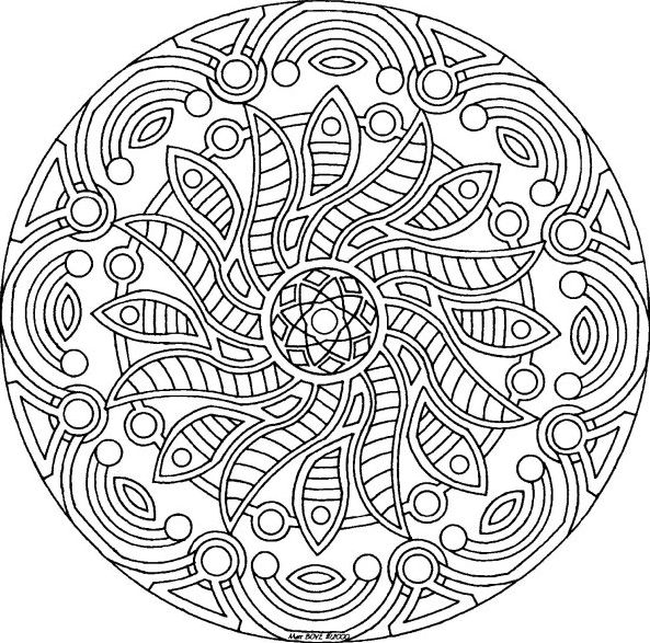 Mandala Www Tdah Be Detailed Coloring Pages Mandala Coloring