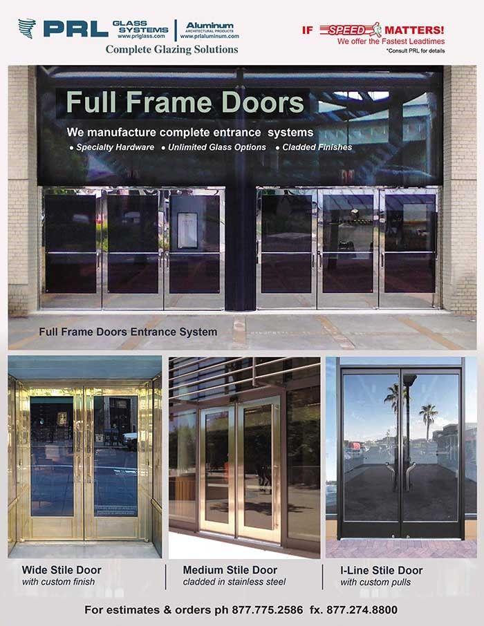 Elegant Full Framed Clad Doors Prl Architectural Glass And Metal News Full Frame Storefront Doors Entrance Doors