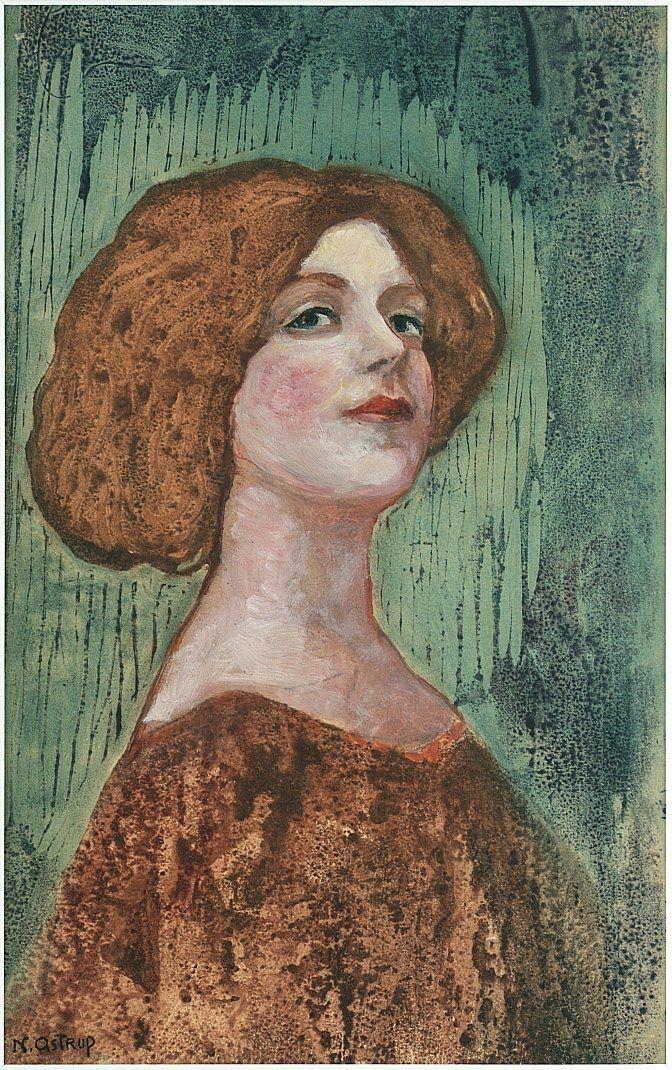 Nikolai Astrup, Portrait of Miss B