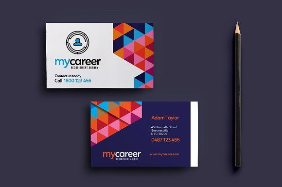 Recruitment Agency Business Card Agency Business Cards Business Cards Creative Templates Recruitment Agencies