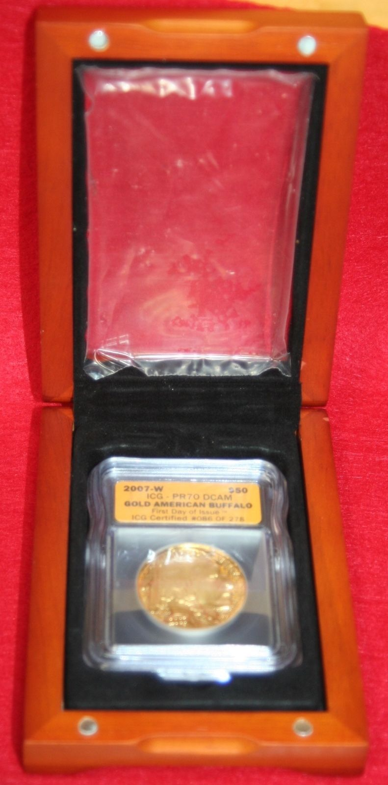 "#New post #2007-W $50 American Gold Buffalo 1oz  - ICG PR70 DCAM in Wooden Box  http://i.ebayimg.com/images/g/4DMAAOSww3tY5BI0/s-l1600.jpg      Item specifics   Seller Notes: ""Perfect Grade""      									 			Coin:   												American Buffalo  									 			Fineness:   												.9999    									 			Grade:   												PR70  									 			Country/Region of Manufacture:   												United States    									... https://www.shopnet.one/2007-w-50-american-gold"