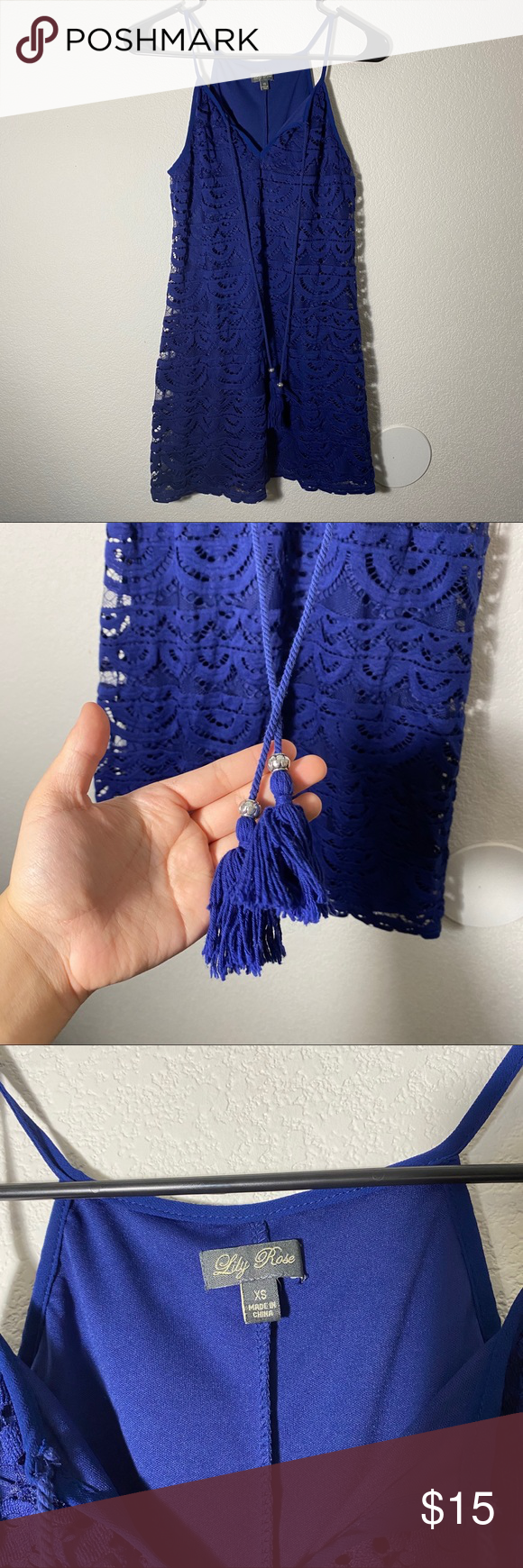 Photo of [ lily rose ] juniors lace blue dress very cute and great for a vacay or the war…