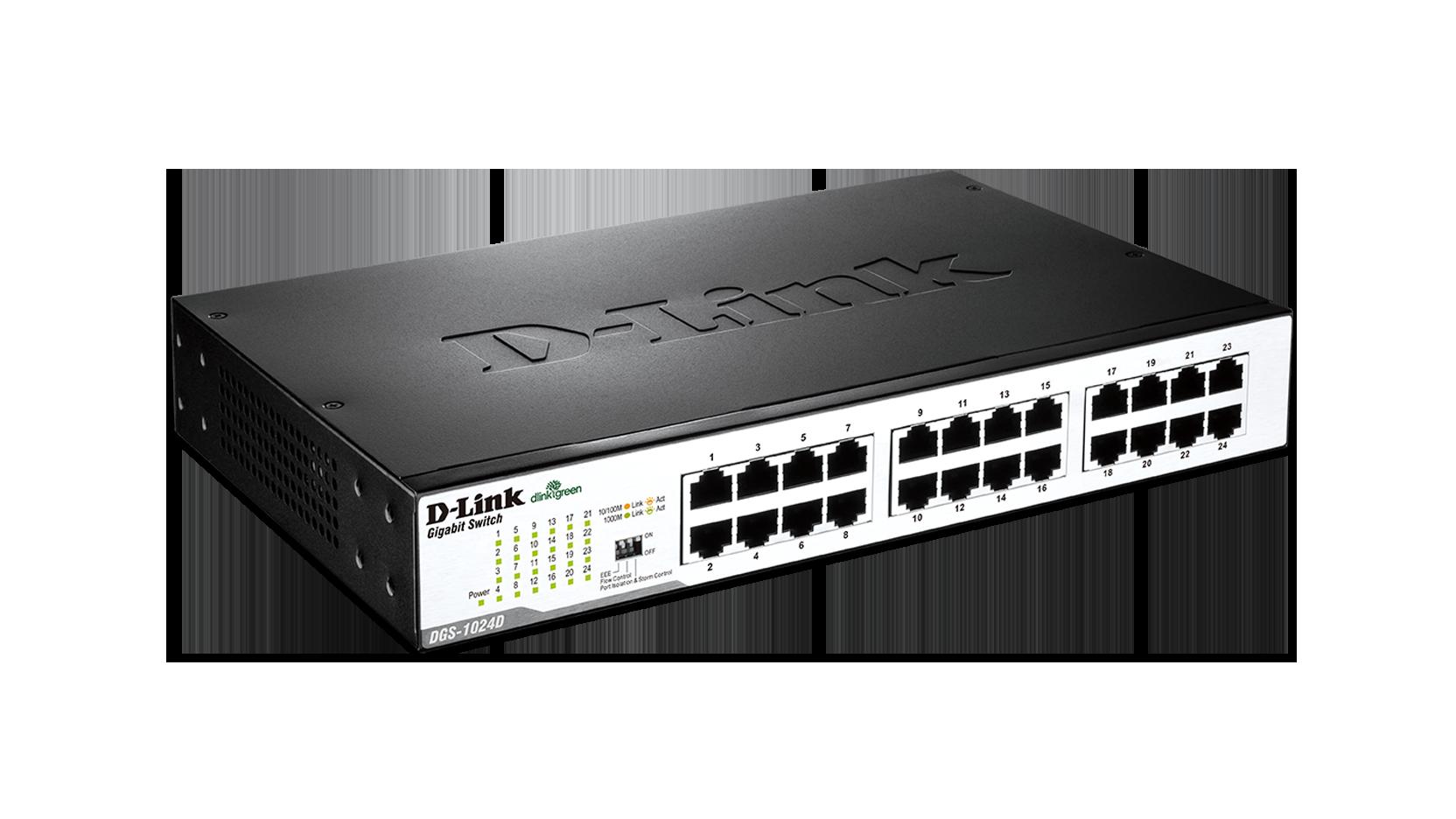 D Link Dgs 1024d 24 Port Gigabit Unmanaged Desktop Switch Port Gigabit Switch Switch