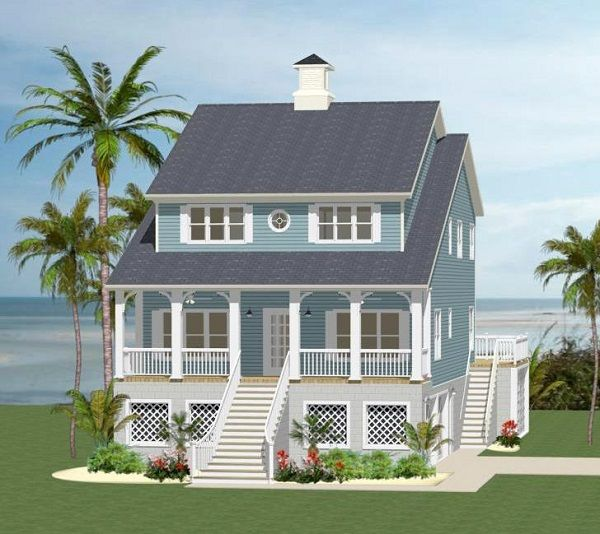 If you ever dreamed of living on the beach we think this for Thehousedesigners com home plans