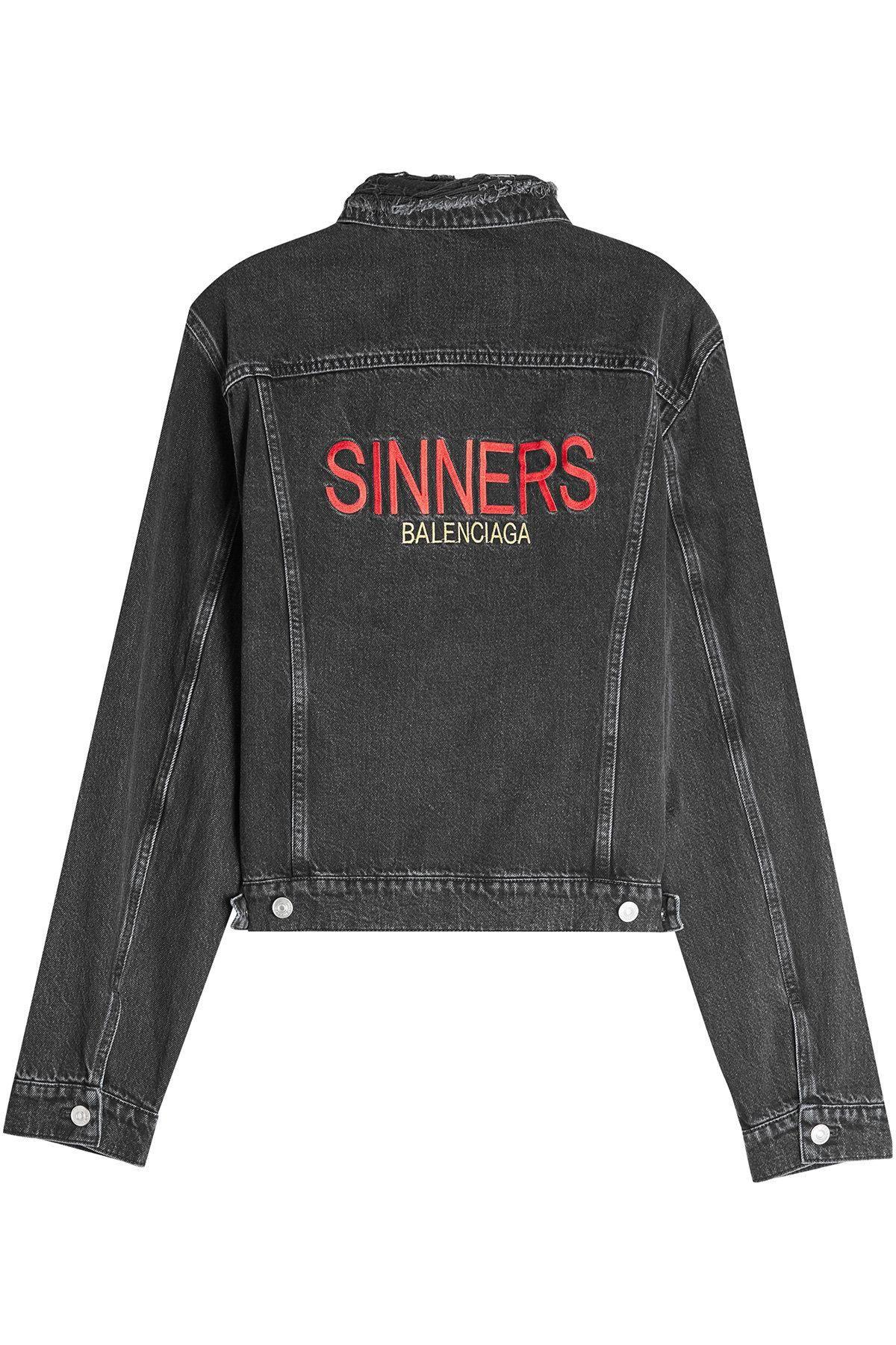 44b9382655  STYLEBOP.com (FR NL IT) -  Balenciaga Balenciaga Sinners Denim Jacket -  AdoreWe.com