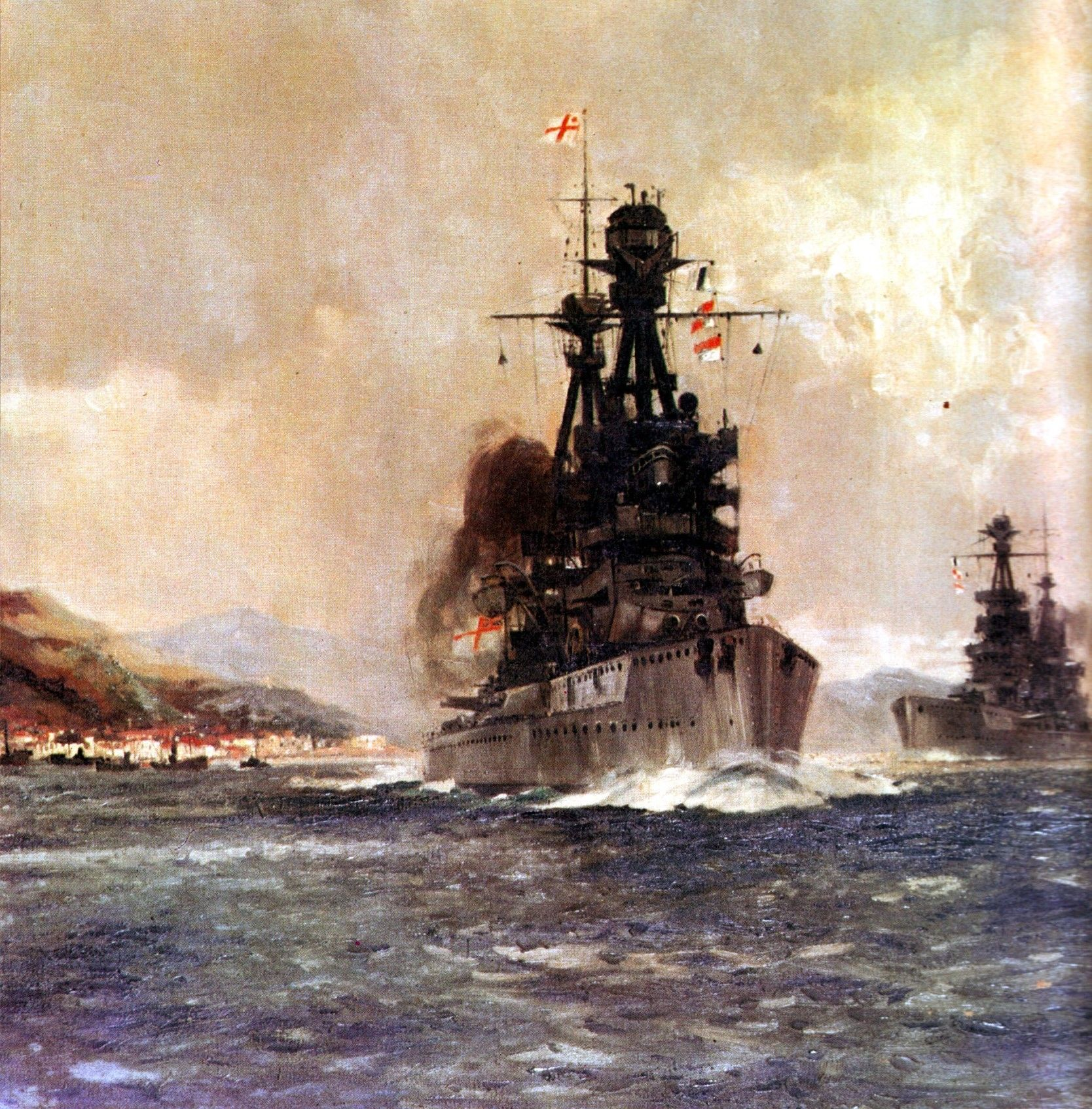 British Battleship HMS Superb. Superb fought at the Battle of Jutland on 31st May 1916 in Vice Admiral Sir Doveton Sturdee's 4th Battle Squadron