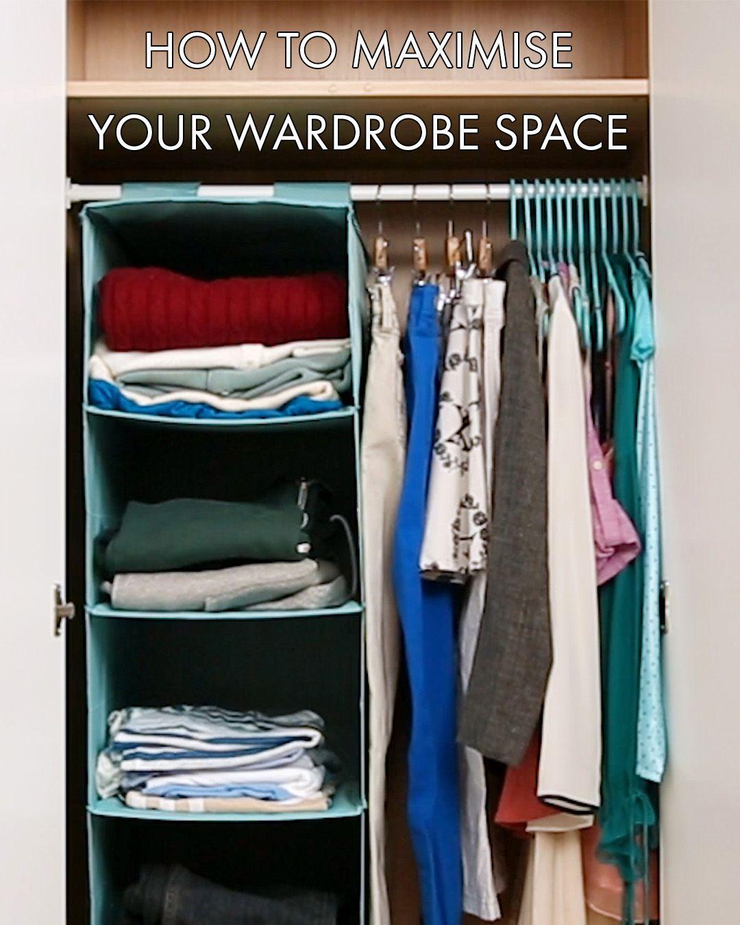 How to maximise your wardrobe space armarios pinterest