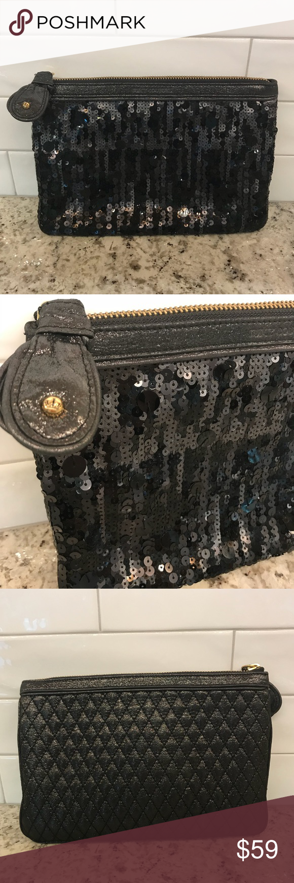 78f0fcab590c  Juicy Couture  Large Sequin Clutch  Juicy Couture  Large Sequin Clutch.  NWOT Never used! Perfect for Holiday parties. Juicy Couture Bags Clutches    ...
