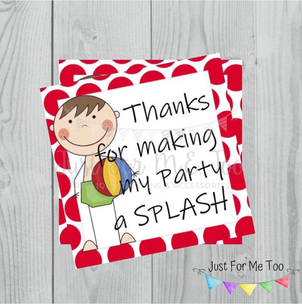 25+ Thanks for making my party a splash free printable inspirations
