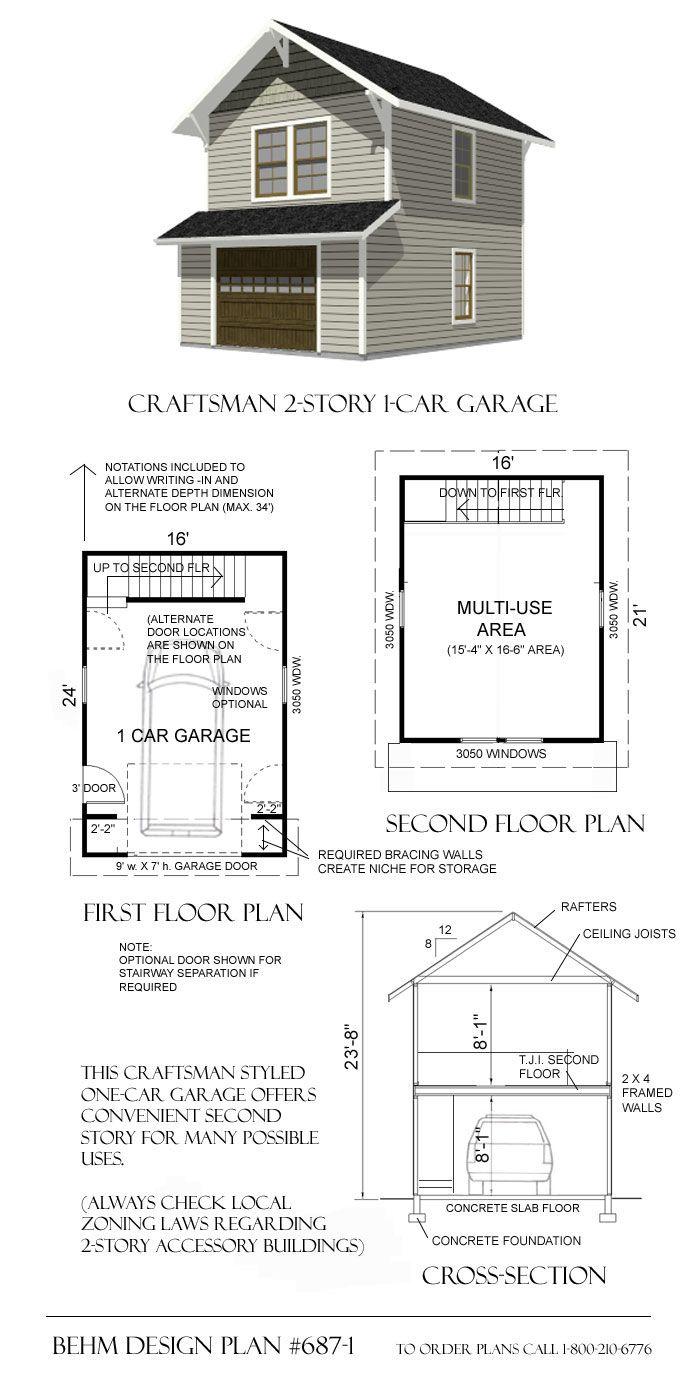 Garage Plan # 687-1