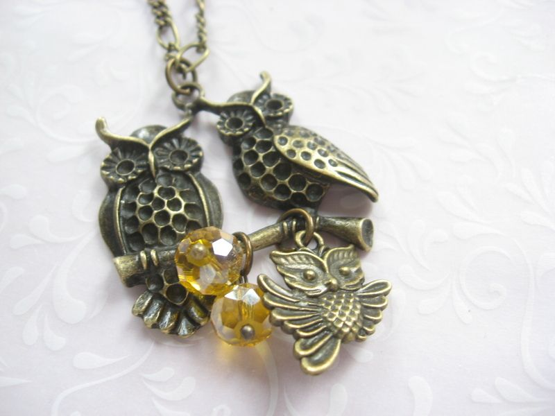 Necklace Family Owl