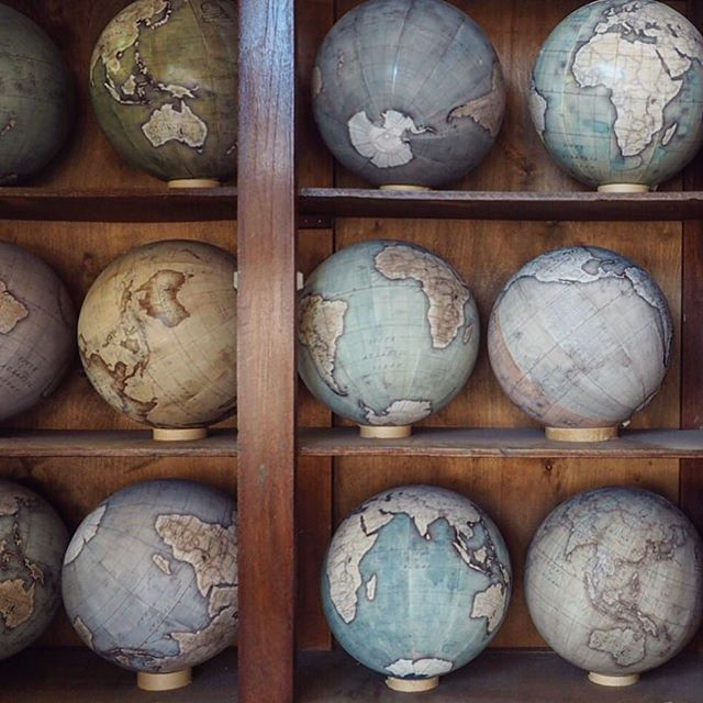 #EmojisInTheWild  Earlier this week the lovely Sabrina (@the_storyteller) invited me to join her on a visit to Bellerby & Co. @Globemakers one of the only traditional globemakers in the world. It was absolutely fascinating to observe how they handcraft their beautiful bespoke globes. Thank you Peter and Jade for opening your studio to us. by whatalexloves
