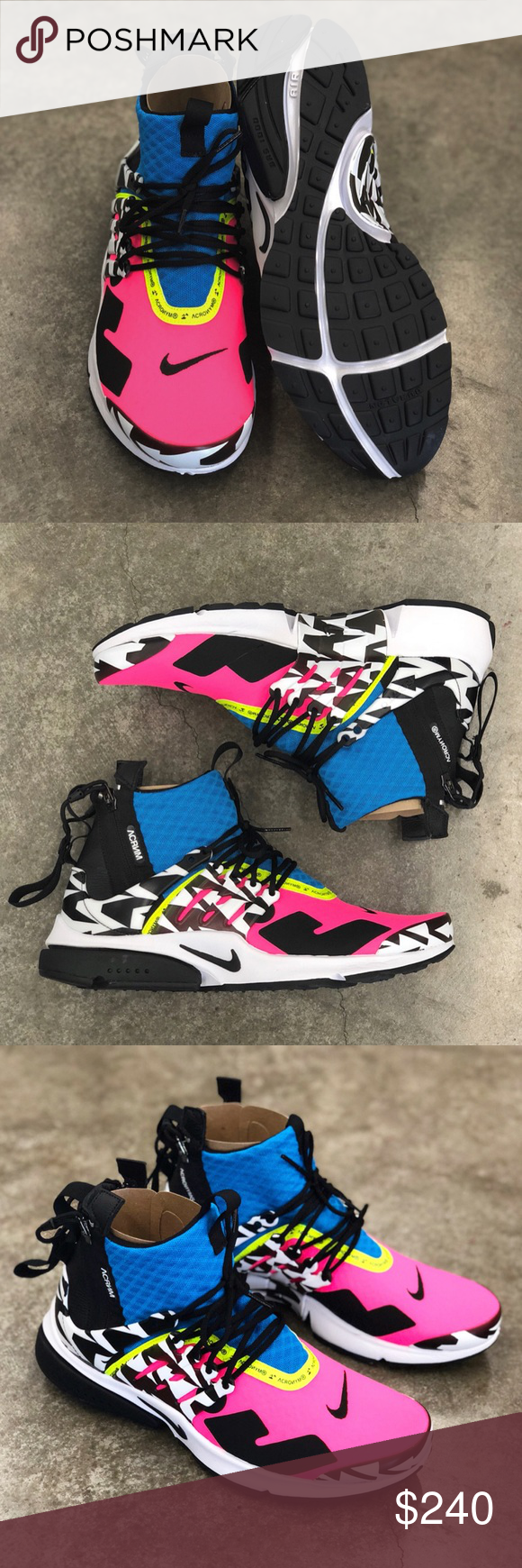 reputable site 3e678 2d2f0 Air Presto Mid Acronym Racer Pink Dead Stock Brand New No Trades Nike Shoes  Athletic Shoes