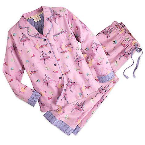 Sleeping Beauty Flannel Pajama Set for Women by Munki Munki ...