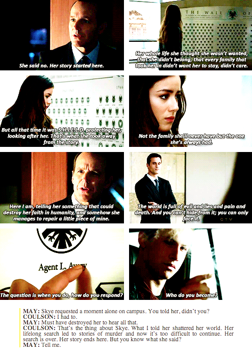 I Loved This Exchange Agents Of Shield Marvel Agents Of Shield Marvel Tv