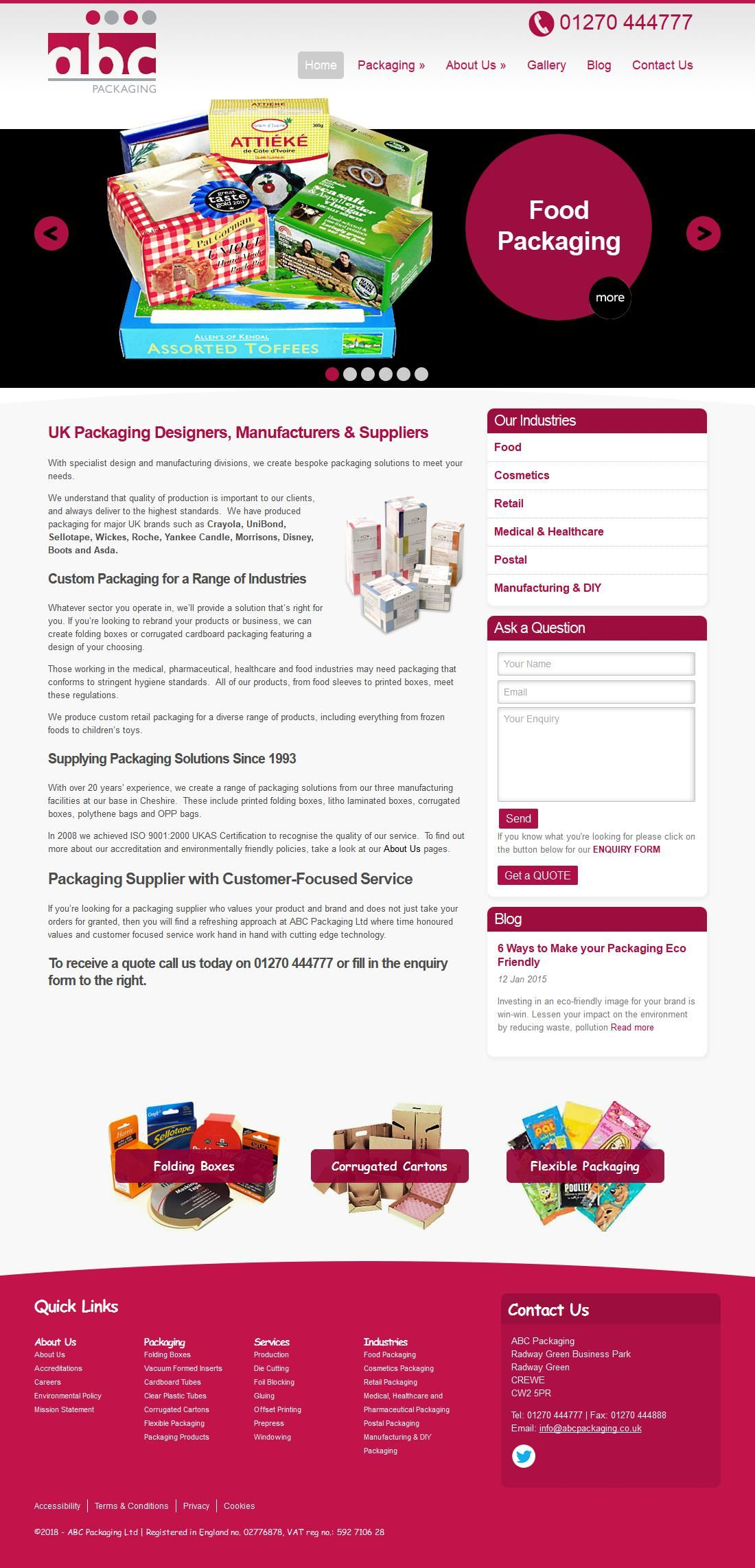 A B C Packaging Plastic & Fabric Bags Suppliers Unit 2125