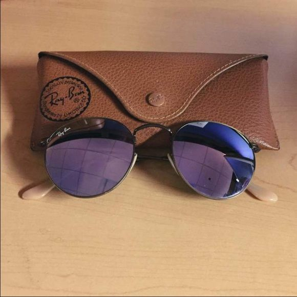 Ray Bans--Round Lilac Flash Lense Round Lilac Flash Lense Ray Ban ... 85c7484892