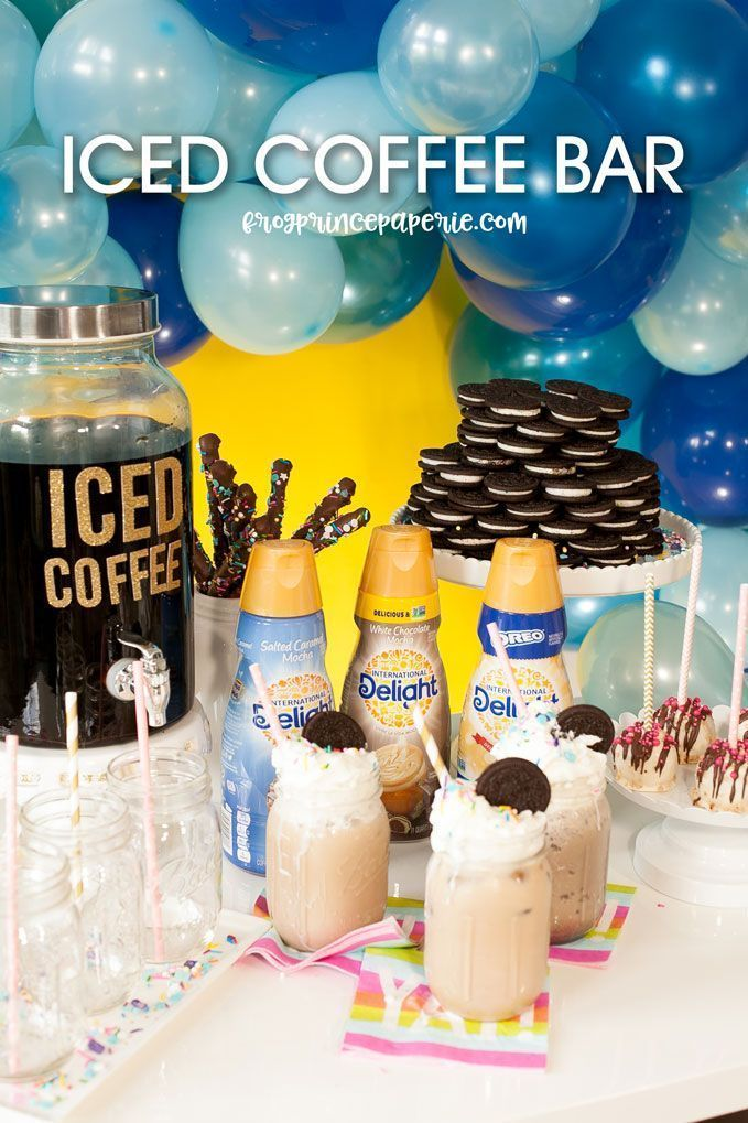 Iced Coffee Bar Party Ideas - Frog Prince Paperie