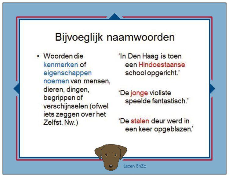Hulpkaart Bijvoeglijke Naamwoorden Nederlands Dutch Language