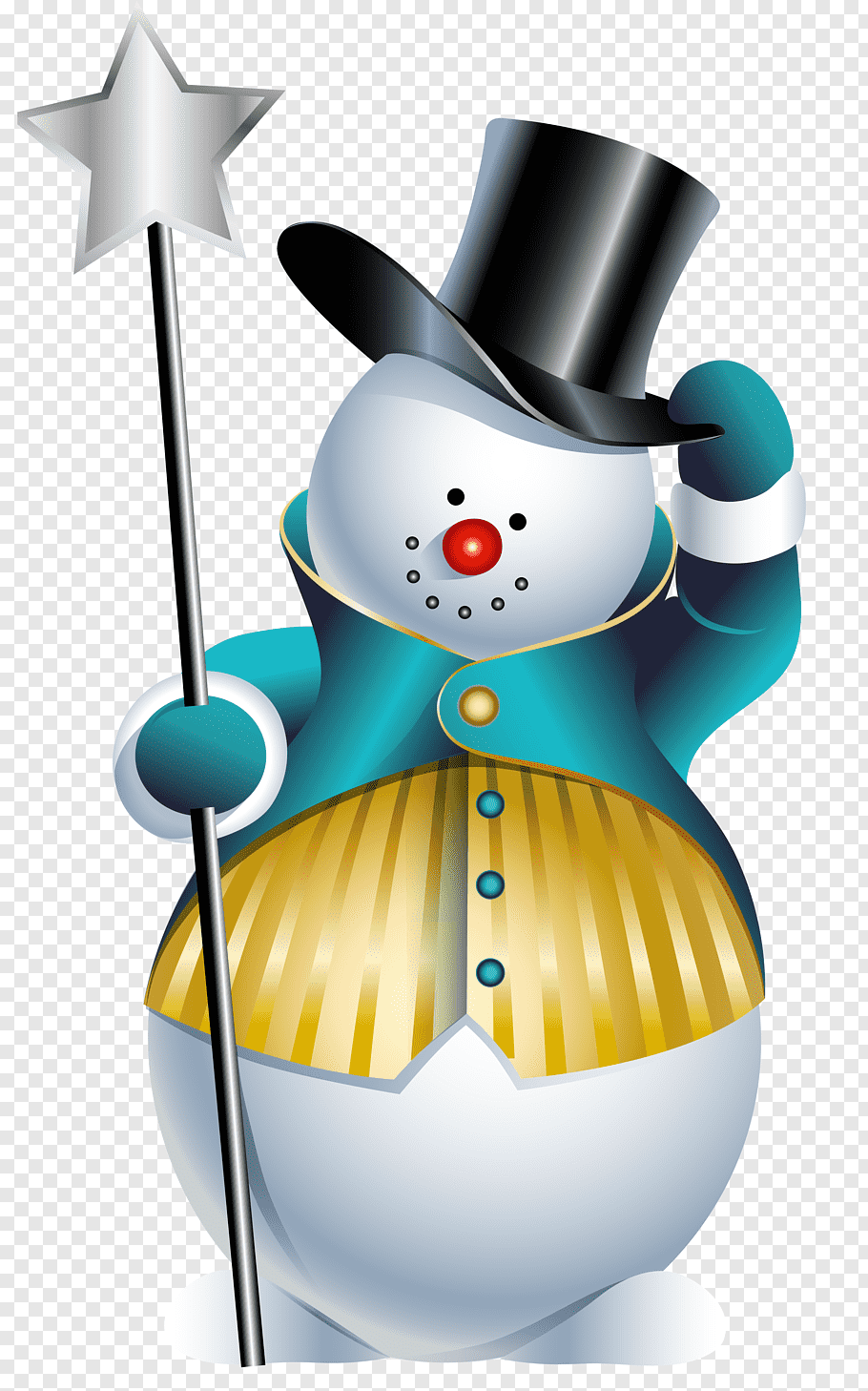 Snowman Holding Star Stick Illustration Snowman Cute Snowman Free Png Snowman Clipart Christmas Art Christmas Drawing