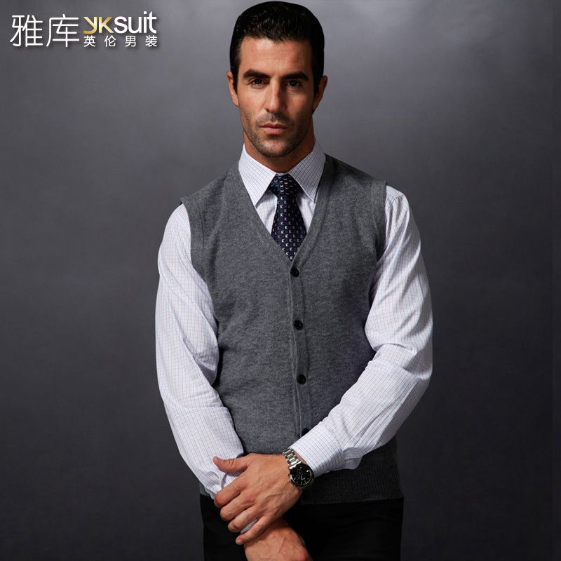 Men\u0027s business casual knitted sweater vest