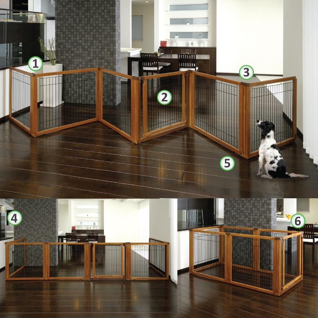 Amazon Com Richell 3 In 1 Convertible Elite Pet Gate 6 Panel