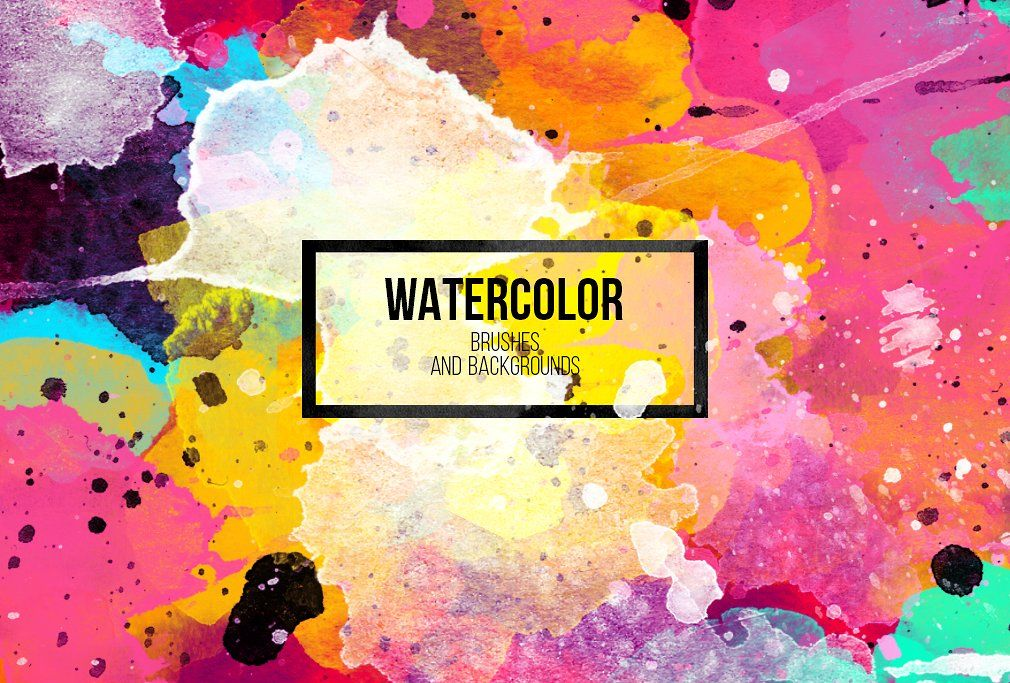 Watercolor Brushes Design Elements Photoshop Adobe Watercolor
