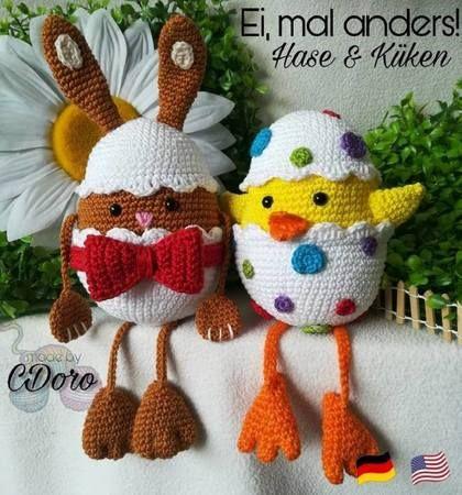 Ei, mal anders! Hase & Küken - Häkelanleitung #crochethooks