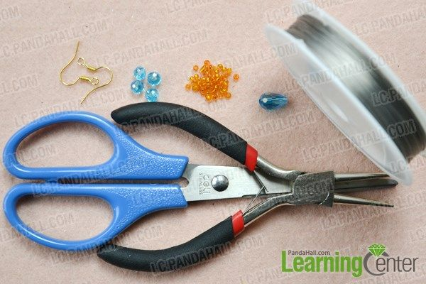 Materials needed on how to make beaded earrings tutorial