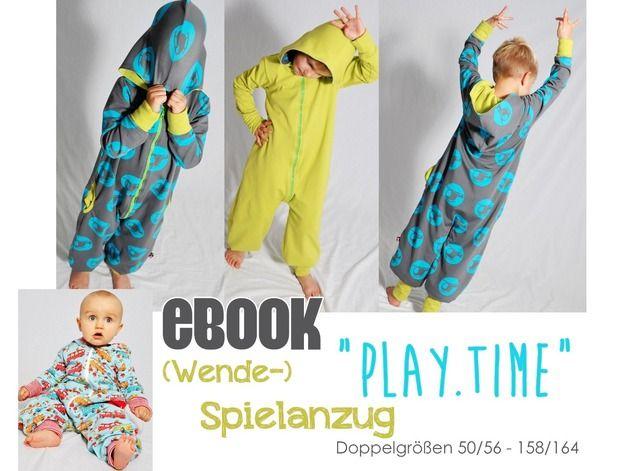 Nähanleitungen Kind - eBOOK # 56 ✪ Wende-Spielanzug \