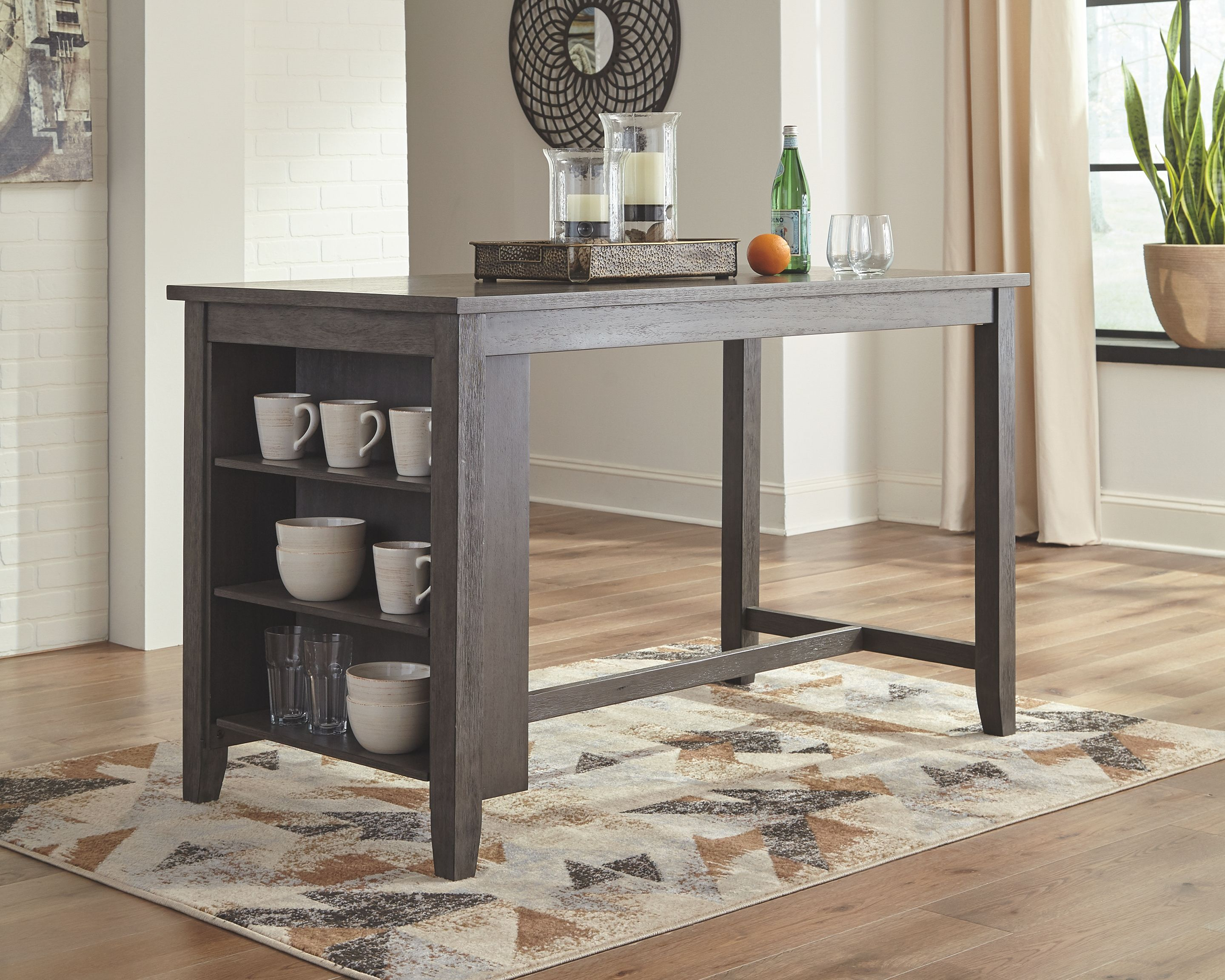 Caitbrook Counter Height Dining Room Table Gray In 2020 Dining