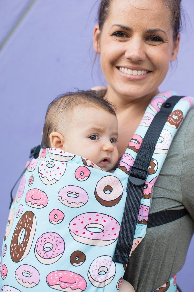 ceae8879ea7 Donuts Baby Carrier! Glazed - Tula Baby Carrier. There s always room for  more donuts! In collaboration with Purl Lamb