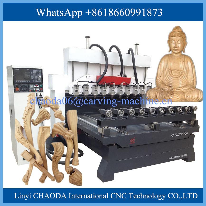 China Cheap Price For Sale Ce Multi Head 4 Axis Rotary 3d Cnc Wood Router India Cnc Router Woodworking Machine