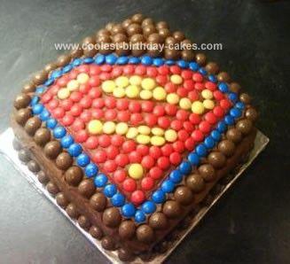 Superman cake for Cs birthday for c Pinterest Superman