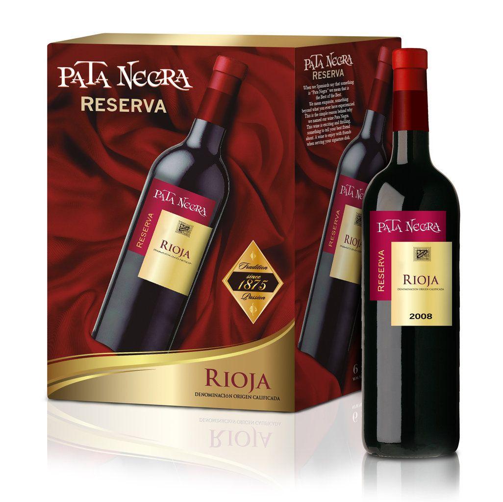 El Pata Negra De Valdepenas Reserva Un Rioja Elaborado En Nuestras Bodegas Wine Bottle Wine Bottle