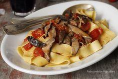 Pasta+con+funghi+cardoncelli+e+pomodorini