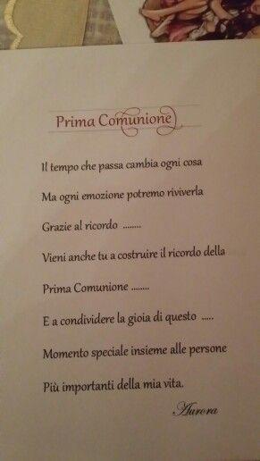 Invito Comunione Prima Comunione Frasi Ringraziamento