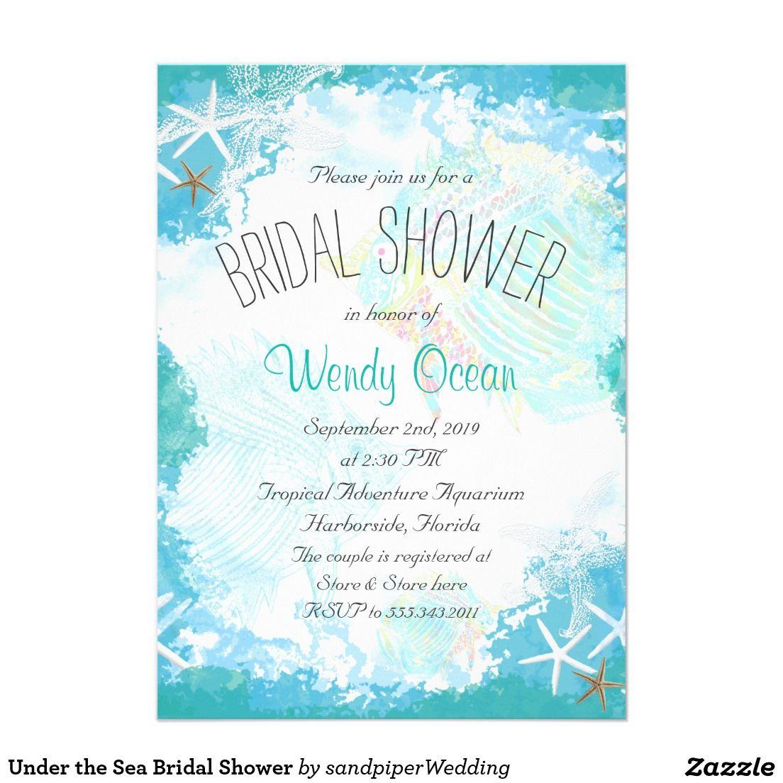 Under the sea bridal shower wedding bridal shower invitations under the sea bridal shower filmwisefo Images
