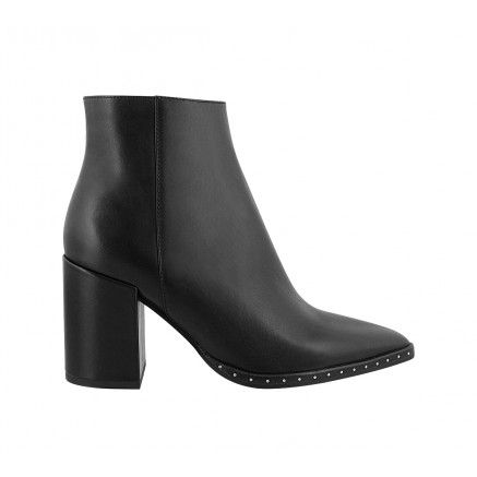 BAILEY Black Leather Tony Bianco Pointed Dress Boot