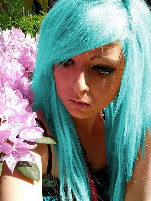 Fabulous Teenagers With Coloer Hair Mainly Playing With Color The Short Hairstyles Gunalazisus