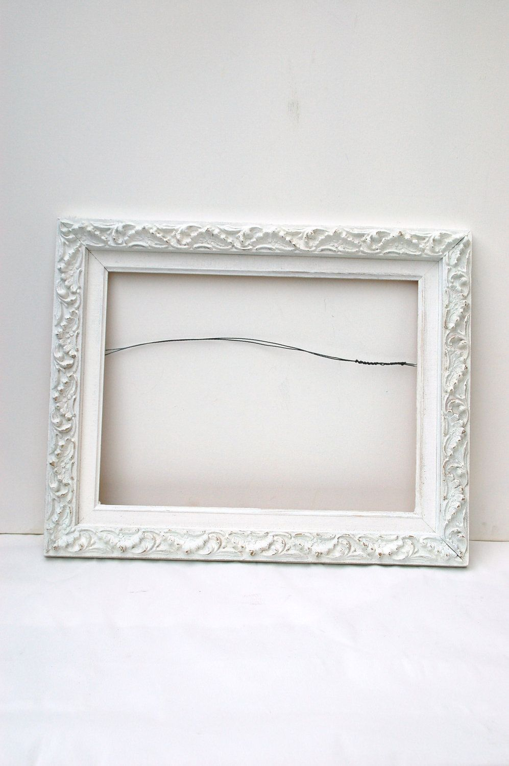 ornate vintage white shabby chic frame country shabby chic home ...